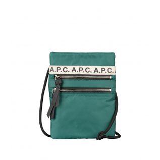 아페쎄 파우치 A.P.C. Repeat neck pouch,FOREST GREEN