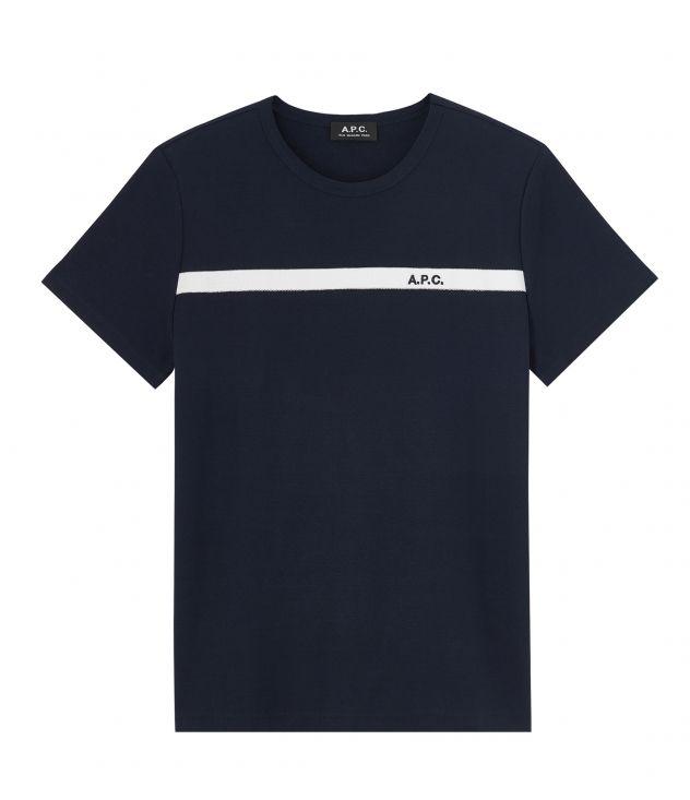 아페쎄 옴므 티셔츠 A.P.C. Coloured Yukata T-shirt,DARK NAVY BLUE