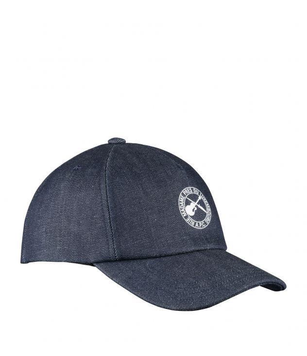 아페쎄 A.P.C. Eden Guitare Poignard baseball cap,Indigo