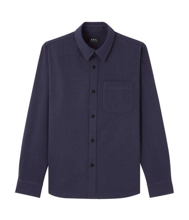 아페쎄 옴므 셔츠 A.P.C. Trek overshirt,NAVY BLUE