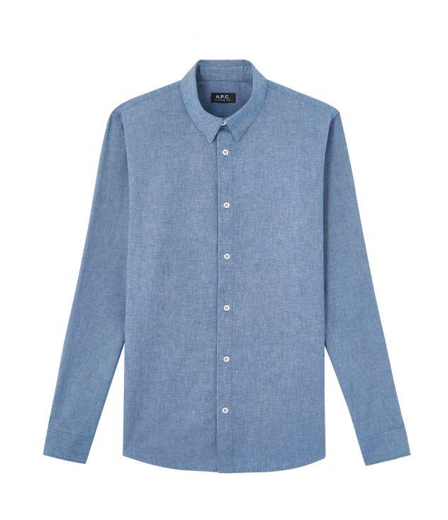아페쎄 옴므 셔츠 A.P.C. Hector shirt,INDIGO