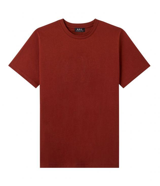 아페쎄 옴므 티셔츠 A.P.C. Hartman T-shirt,BURGUNDY