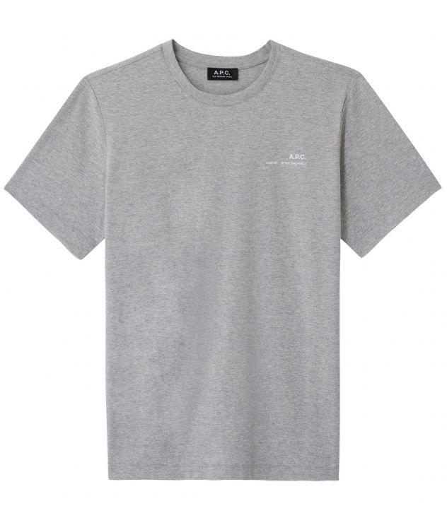 아페쎄 옴므 티셔츠 A.P.C. Item T-shirt,HEATHER GREY