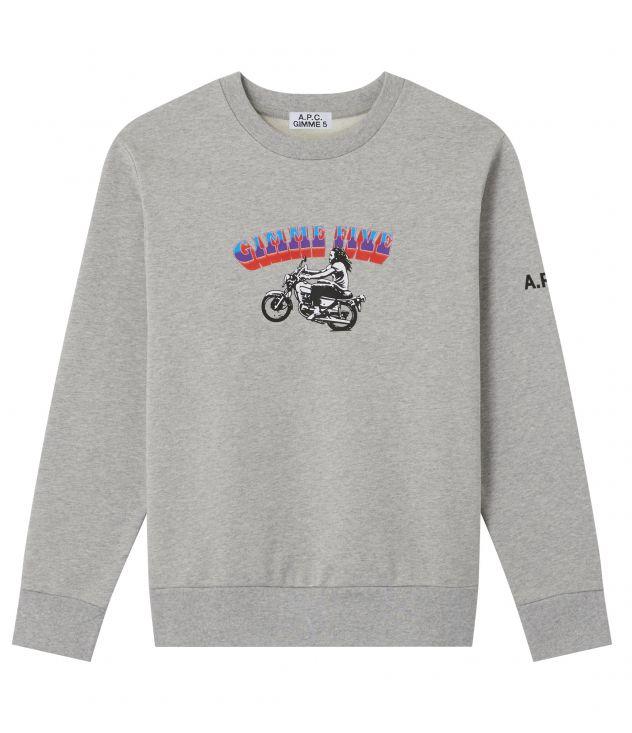 아페쎄 X 김미 파이브 콜라보 맨투맨 A.P.C. Gimme Five Mika sweatshirt,HEATHER GREY