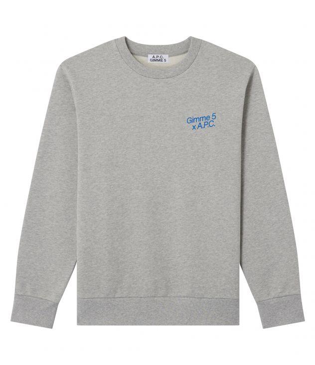 아페쎄 X 김미 파이브 콜라보 맨투맨 A.P.C. Gimme Five Michele sweatshirt,HEATHER GREY
