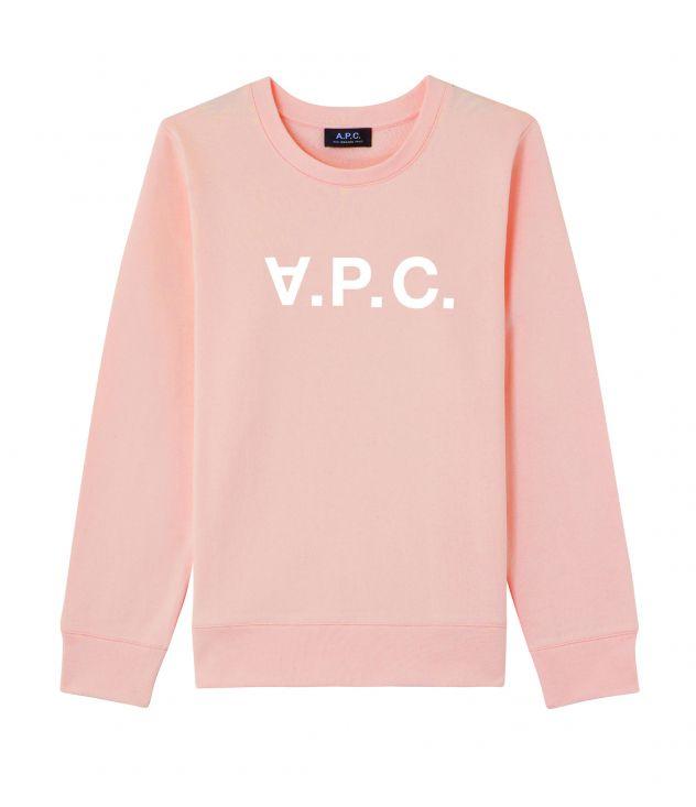 아페쎄 VPC 로고 맨투맨 A.P.C. Viva sweatshirt,PALE PINK