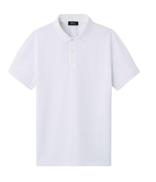 아페쎄 옴므 폴로 셔츠 A.P.C. Esteban polo shirt,WHITE