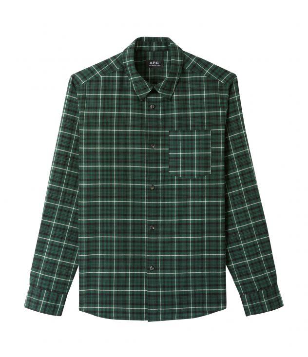 아페쎄 옴므 오버셔츠 A.P.C. John overshirt,Green