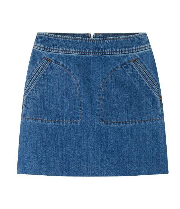 아페쎄 A.P.C. Shanya skirt,BLUE