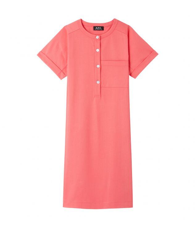 아페쎄 원피스 A.P.C. Charlie dress,Coral