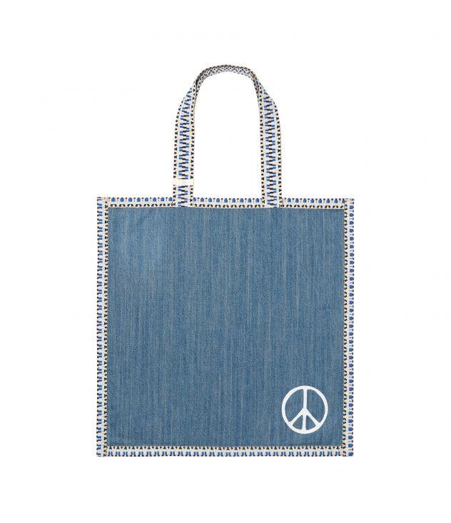 아페쎄 쇼핑 백 A.P.C. RTH shopping bag,STONEWASHED INDIGO
