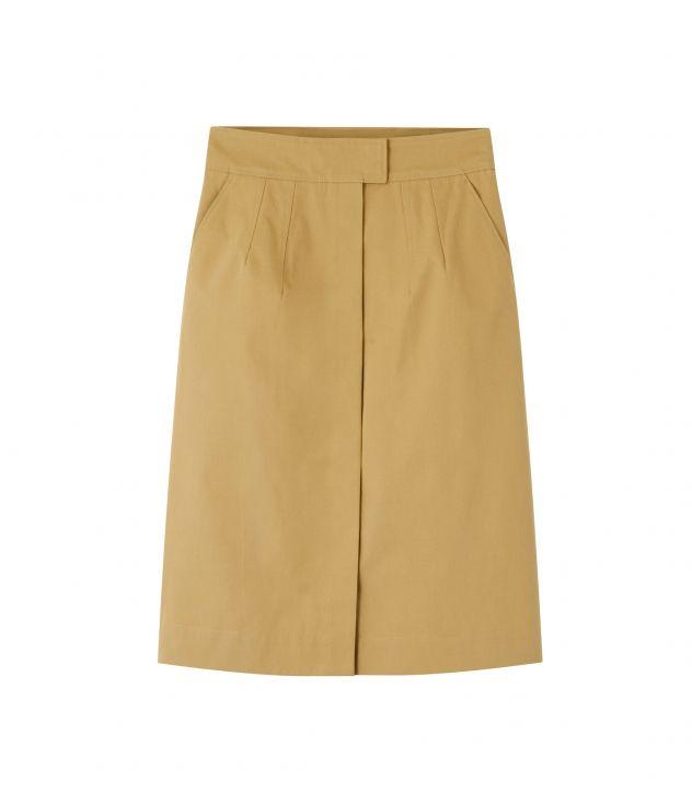 아페쎄 A.P.C. Rena skirt,CAMEL