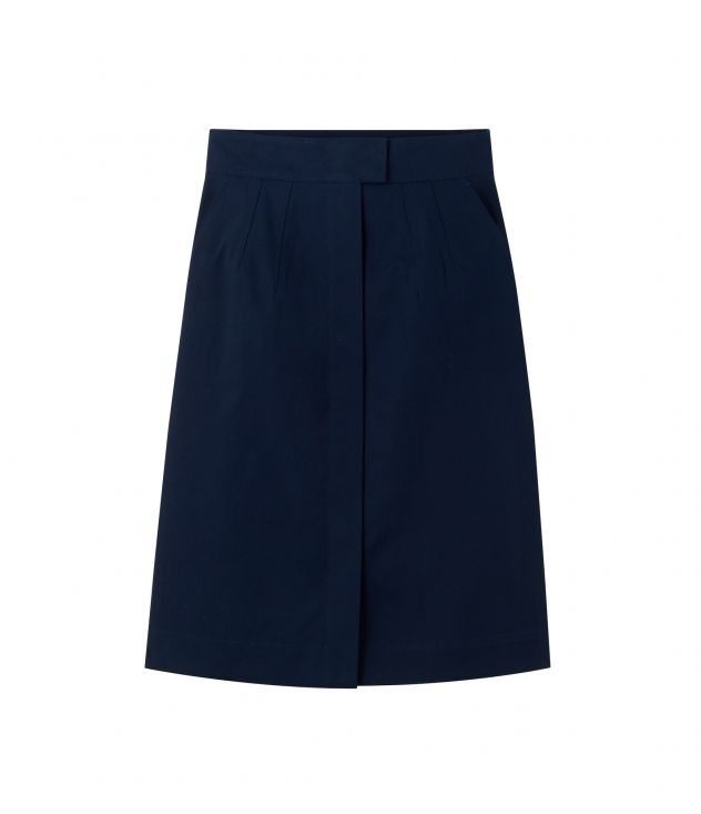아페쎄 A.P.C. Rena skirt,DARK NAVY BLUE