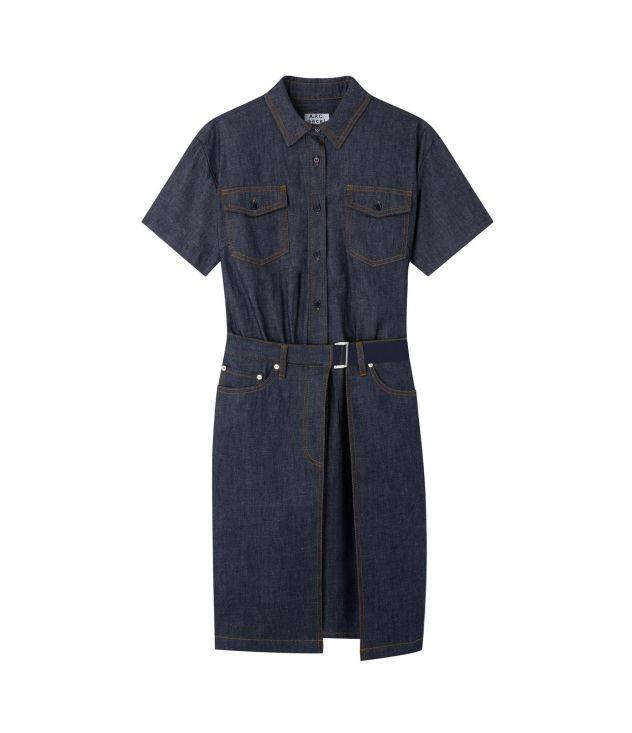 아페쎄 X 사카이 데님 원피스 A.P.C. X SACAI Keiko dress,INDIGO