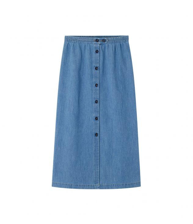 아페쎄 A.P.C. Deauville skirt,PALE BLUE