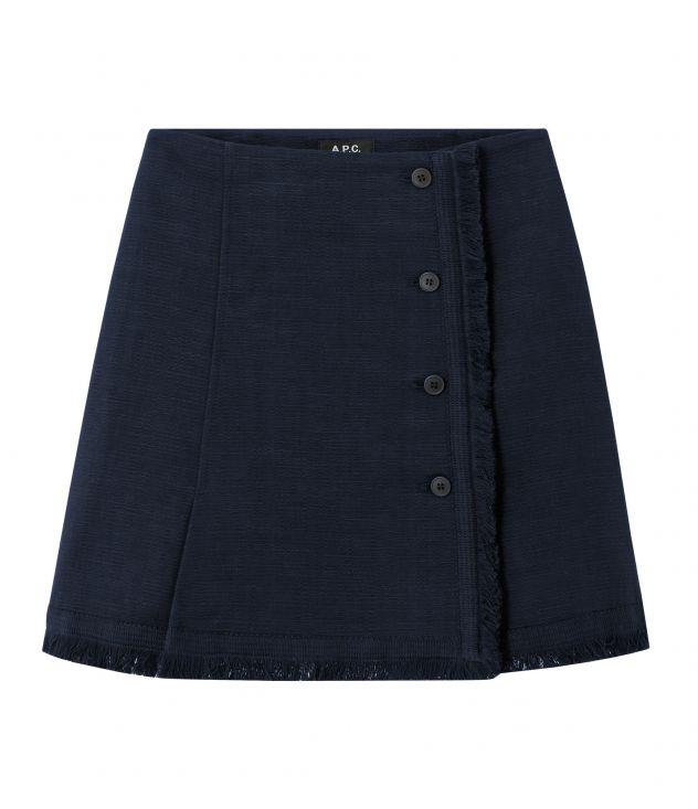 아페쎄 A.P.C. Frida skirt,NAVY BLUE