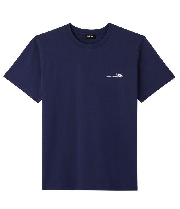 아페쎄 옴므 티셔츠 A.P.C. Item T-shirt,DARK NAVY BLUE