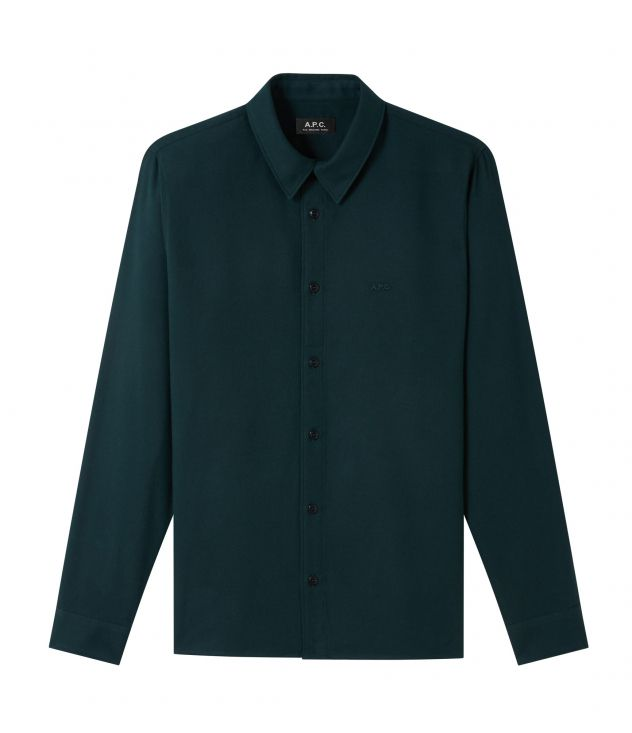 아페쎄 옴므 셔츠 A.P.C. Vincent shirt,DARK GREEN