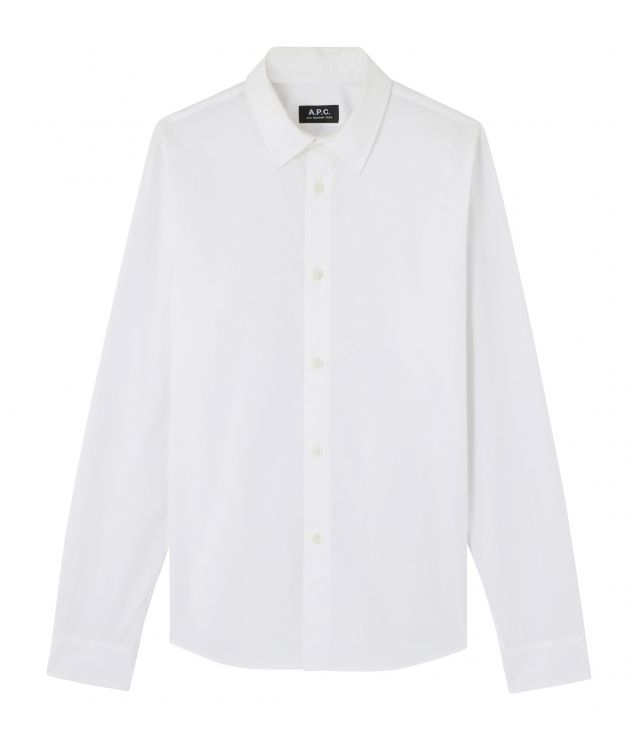 아페쎄 옴므 셔츠 A.P.C. Casual shirt,WHITE