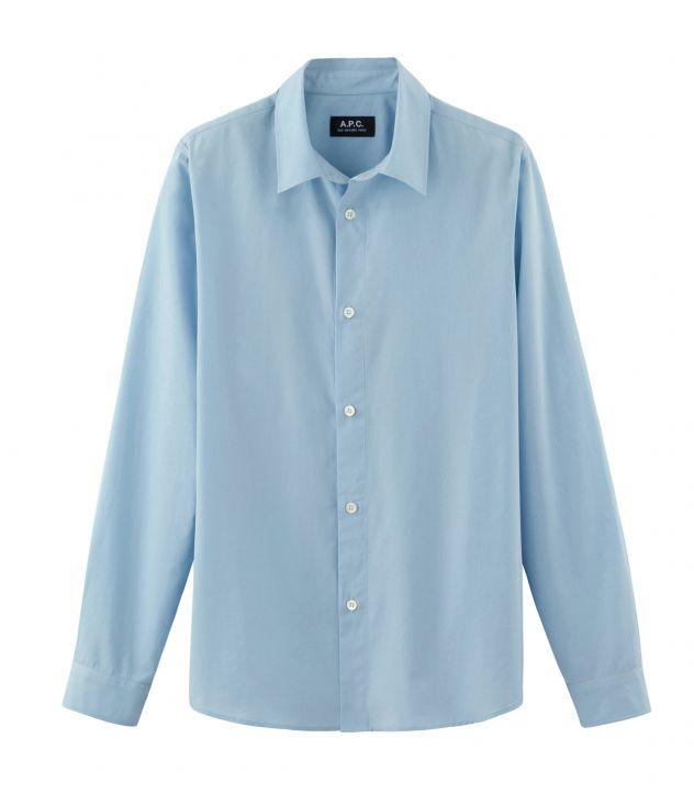 아페쎄 옴므 셔츠 A.P.C. Casual shirt,PALE BLUE
