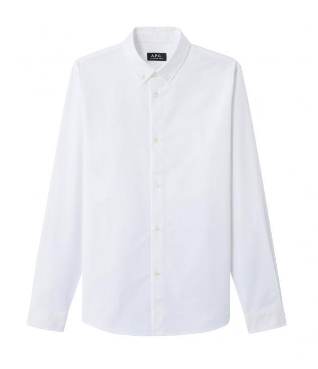 아페쎄 옴므 셔츠 A.P.C. Button-down shirt,WHITE