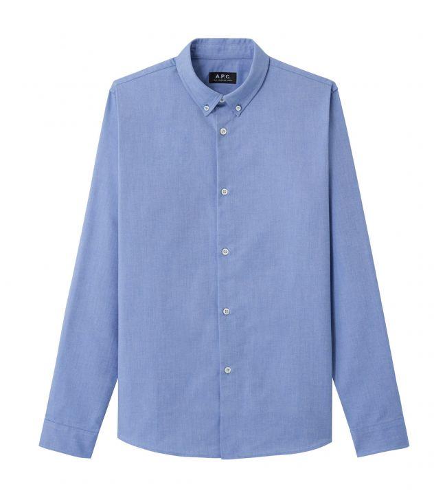 아페쎄 옴므 셔츠 A.P.C. Button-down shirt,BLUE