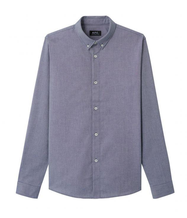 아페쎄 옴므 셔츠 A.P.C. Button-down shirt,DARK NAVY BLUE