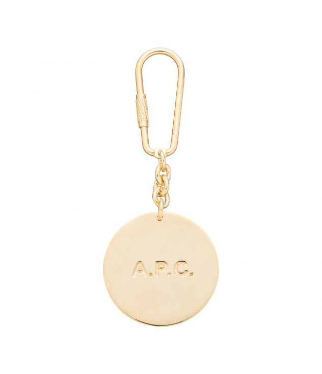 아페쎄 A.P.C. Adrienne key ring,GOLDTONE