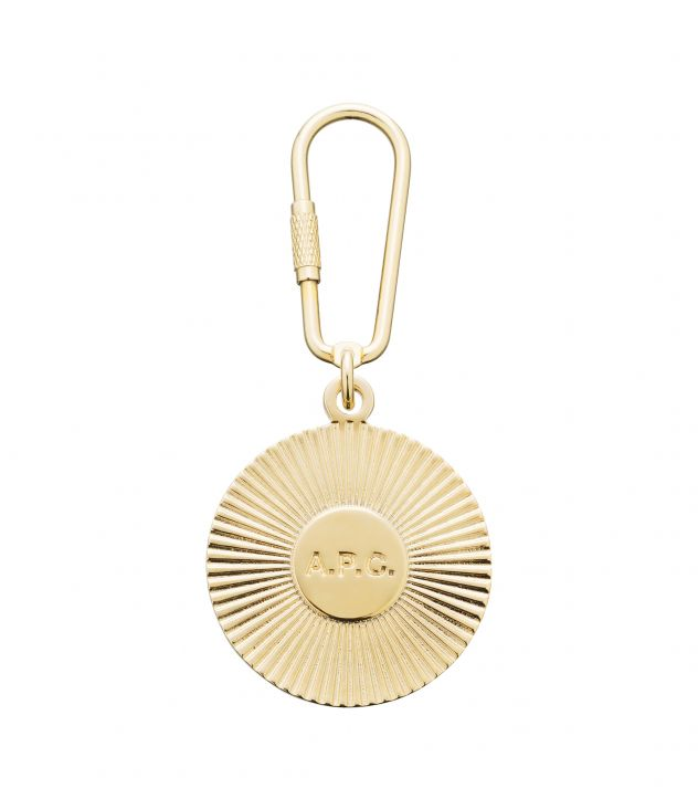 아페쎄 A.P.C. Martha key ring,GOLDTONE