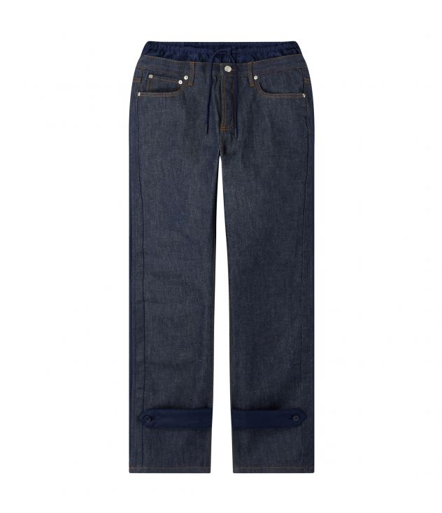 아페쎄 X 사카이 믹스매치 데님 팬츠 - 네이비 A.P.C. X SACAI  Haru trousers