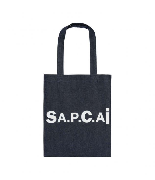 아페쎄 X 사카이 홀리 토트백, 리버서블 - 네이비 A.P.C. X SACAI  Holly tote bag