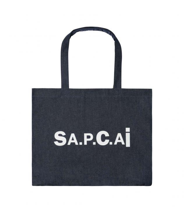 아페쎄 X 사카이 캔디 쇼핑백, 리버서블 - 네이비 A.P.C. X SACAI  Candy shopping bag