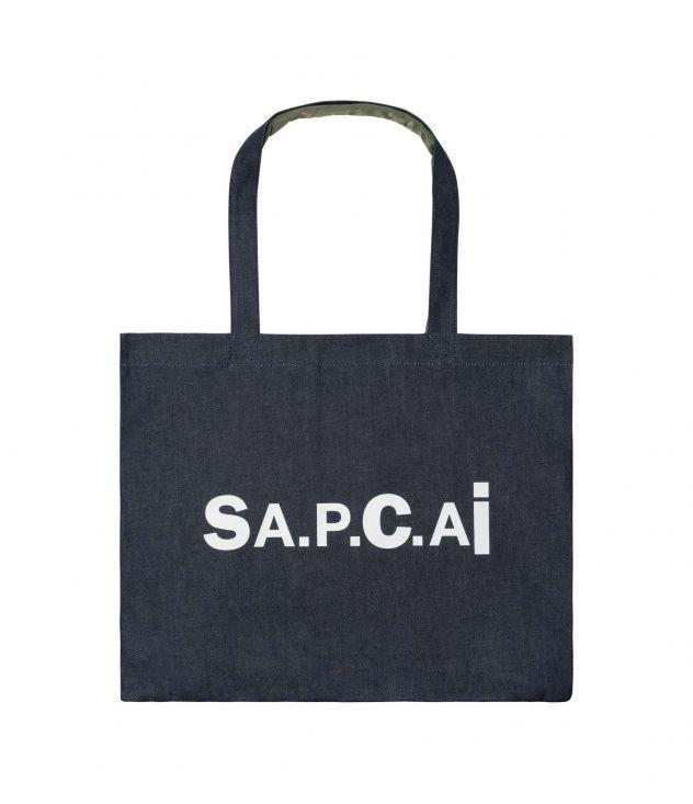 아페쎄 X 사카이 캔디 쇼핑백, 리버서블 - 카키 A.P.C. X SACAI Candy shopping bag