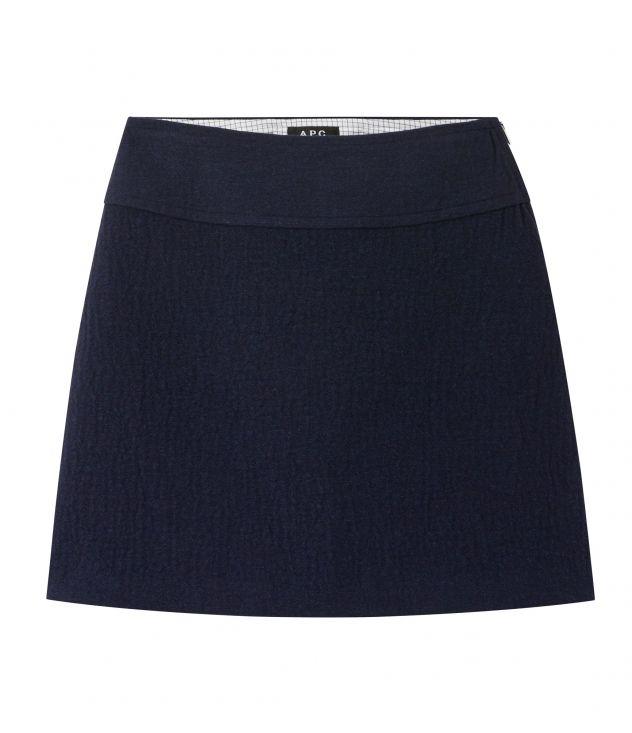 아페쎄 A.P.C. Wright skirt,DARK NAVY BLUE