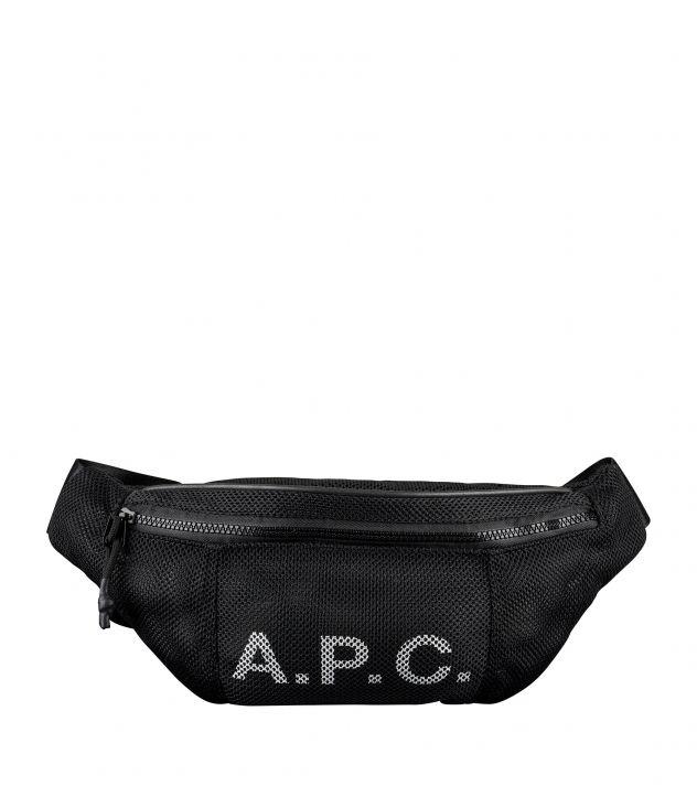 아페쎄 힙백 A.P.C. Rebound hip bag,BLACK