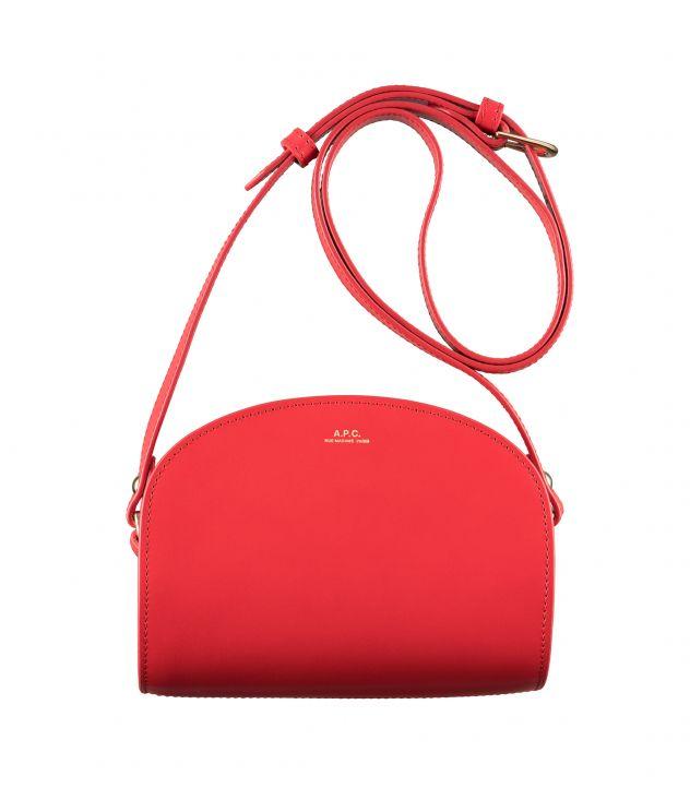 아페쎄 하프문백 미니 A.P.C. Demi-Lune Mini bag,STRAWBERRY RED
