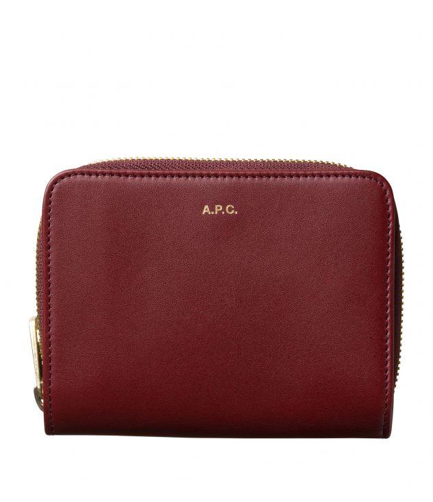 아페쎄 A.P.C. Emmanuelle compact wallet,Vino