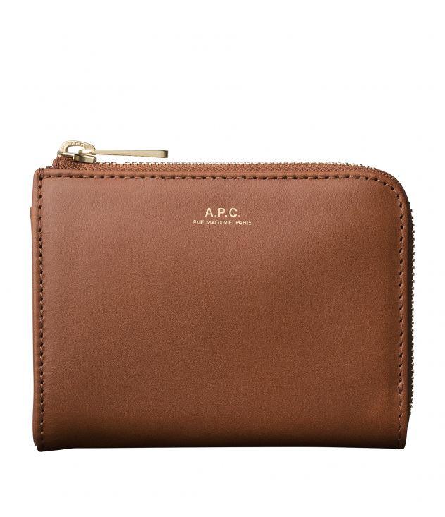 아페쎄 A.P.C. Lise compact wallet,NUT BROWN