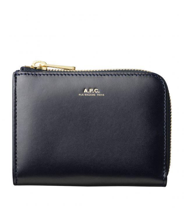 아페쎄 A.P.C. Lise compact wallet,Dark navy blue