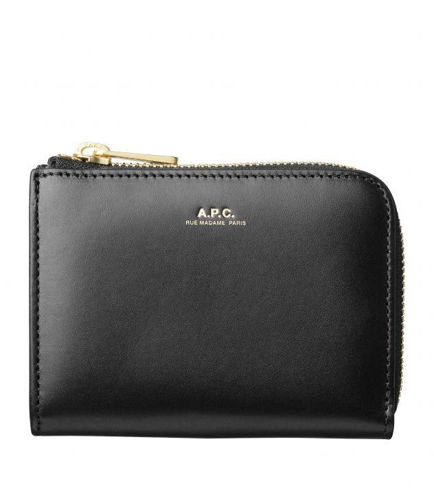 아페쎄 A.P.C. Lise compact wallet,BLACK