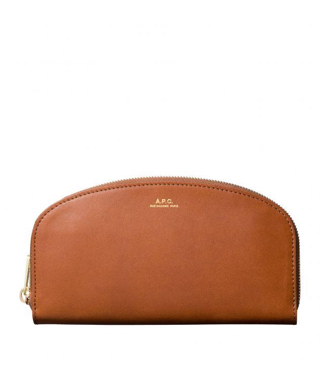 아페쎄 A.P.C. Demi-Lune wallet,NUT BROWN