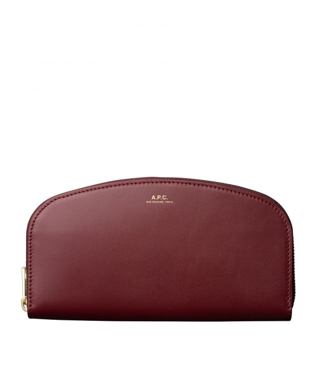 아페쎄 A.P.C. Demi-Lune wallet,Vino