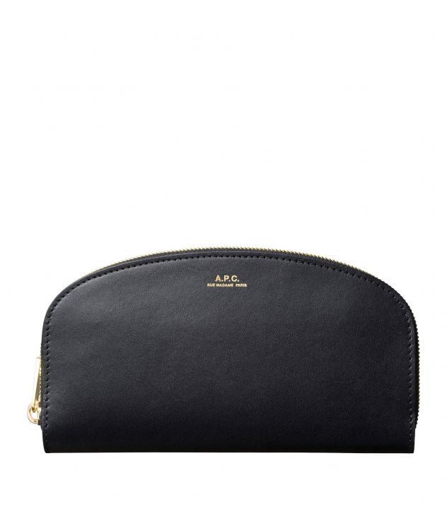 아페쎄 A.P.C. Demi-Lune wallet,BLACK