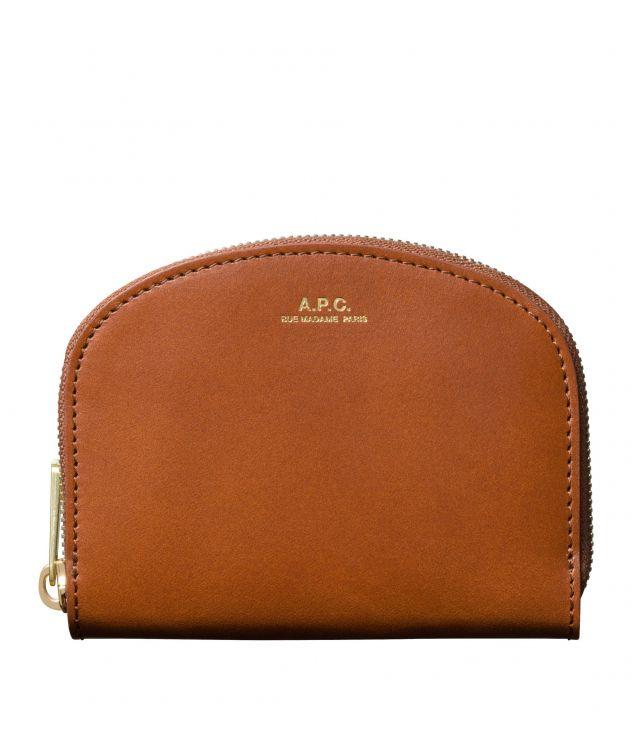 아페쎄 A.P.C. Demi-Lune compact wallet,NUT BROWN