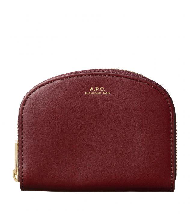 아페쎄 A.P.C. Demi-Lune compact wallet,Vino