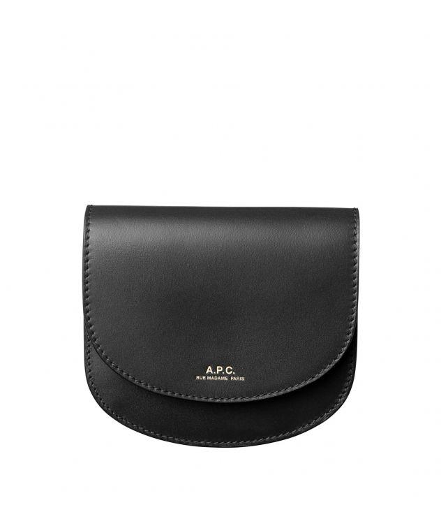 아페쎄 A.P.C. Geneve compact wallet,BLACK