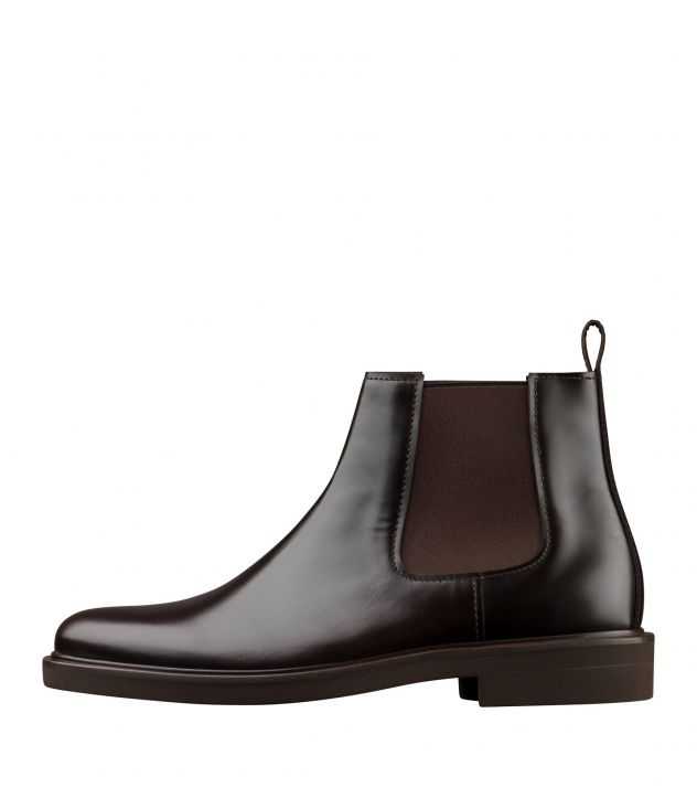 아페쎄 부츠 A.P.C. Simeon ankle boots,DARK CHESTNUT BROWN