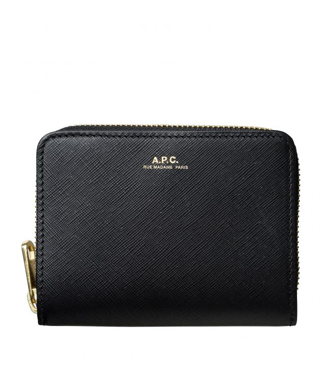 아페쎄 A.P.C. Emmanuelle compact wallet,Black