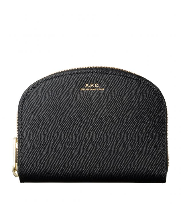 아페쎄 A.P.C. Demi-Lune compact wallet,Black