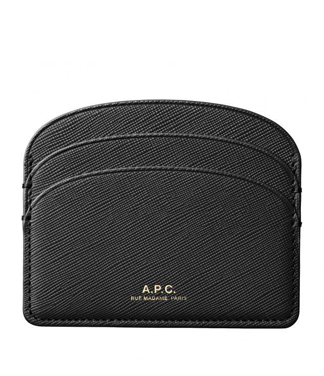 아페쎄 A.P.C. Demi-Lune cardholder,Black